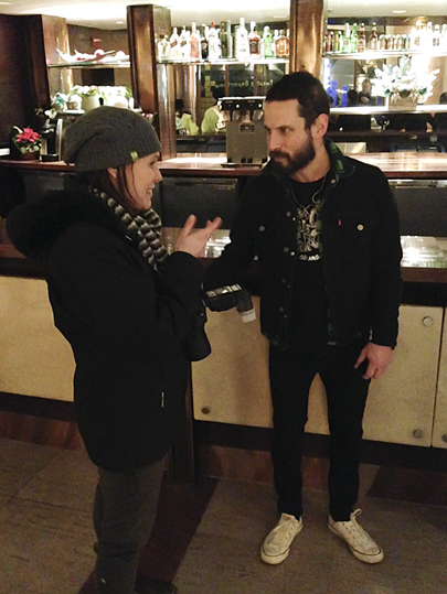 Sam Roberts and photographer sharing our thoughts