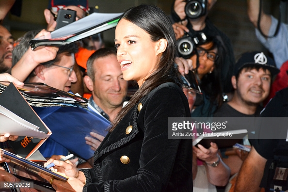 Actress Michelle Rodriguez at the Premiere of re) Assignment at TIFF 2016