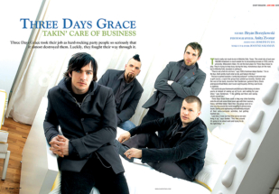 three days grace portrait in toronto at the drake hotel