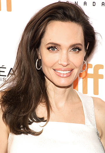 angelina jolie smiling at the camera at TIFF17